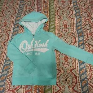 Girls Osh Kosh hoodie zip up jacket
